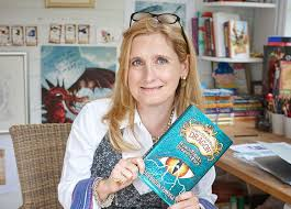 childrens reading at home - image of Cressida Cowell author